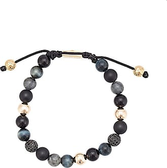 Nialaya Agate, Onyx, Black Jade, Blue Tiger Eye and Black CZ beaded bracelet