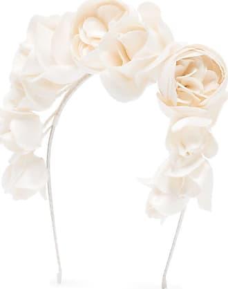 Jennifer Behr Headband Rosabelle com estampa floral - Branco