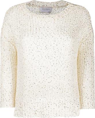 Snobby Sheep Suéter decote careca de tricô - Branco