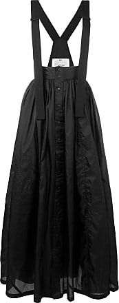 Yohji Yamamoto long pleated skirt - Black