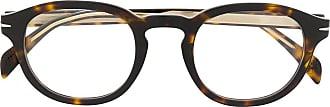 David Beckham Armação de óculos redonda DB 7017 - Marrom