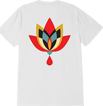 Obey Geometric Flower 2 Sustanaible Tee - Mens Crewneck T-Shirt White - White - S