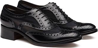 Churchs Polished Fumè & Mesh Heeled Oxford Brogue Woman Black Size 37,5