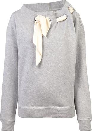 Y / Project Suéter com detalhe de lenço - Cinza