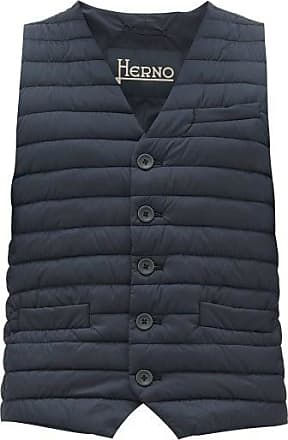 Herno Buttoned Quilted Gilet - Mens - Navy