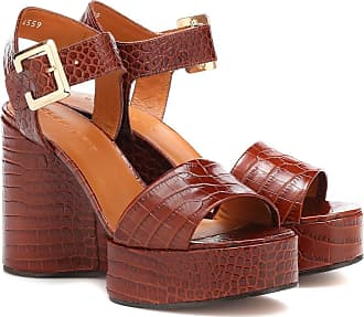 Robert Clergerie Altesse leather wedge sandals