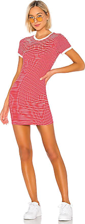 Superdown Kandy Stripe Bodycon Dress in Red