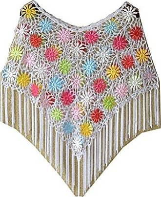 Cheerlife Damen H/äkel Strick Poncho Rundhals Fledermaus Pullover Strickpullover Strick Cape Umhang Netzoberteil Netzshirt