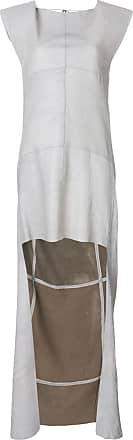 Olsthoorn Vanderwilt Vestido assimétrico de camurça - Cinza