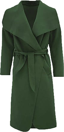 Parsa Fashions Malaika Womens Ladies Waterfall Long Full Sleeves Cape Cardigan Belted Jacket Trench Coat - Available in PLUS SIZES UK 8-20 (Plus Size (UK 20-22), Kha