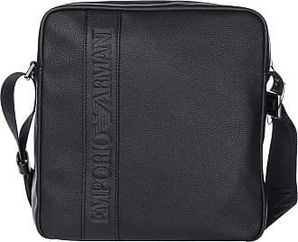 Emporio Armani Mens Logo Messenger Bag Black One Size 4621d39bc9ae8