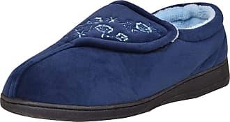 True Face Ladies Winter Slipper Shoes Navy UK 8