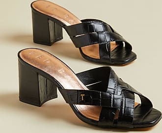 Ted Baker Leather Croc Effect Mules in Black TABEAI, Womens Accessories