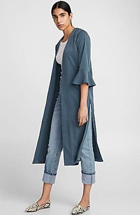 Icone Ruffle-sleeve fluid long jacket