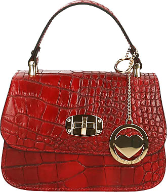 Chicca Borse Leather in Genuine Leather Made in Italy 20x15x8 cm