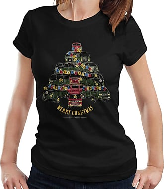 Volkswagen Camper Christmas Tree Womens T-Shirt Black