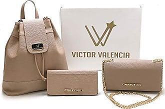 Victor Valência Kit 2 Bolsas + 1 Carteira Feminina