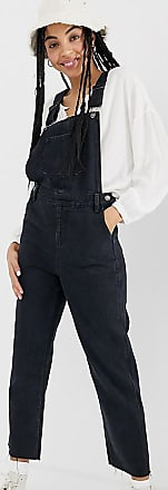 Urban Bliss straight leg dungaree-Black