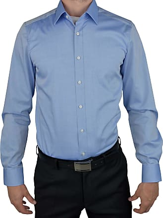 Olymp Olymp Mens Shirt Level 5 Body Fit Long Sleeve - Blue - 15.5
