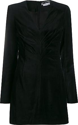 Rotate Vestido de veludo drapeado - Preto