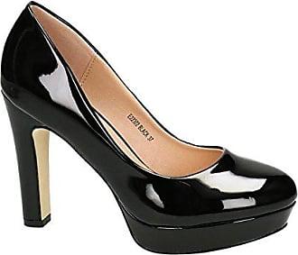 37464c6da42236 King Of Shoes Klassische Damen Lack Pumps Stilettos High Heels Plateau  Abend Schuhe Bequem 22 (