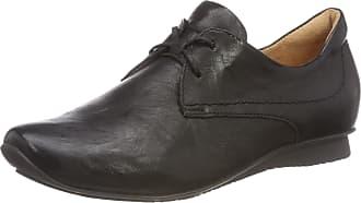 Think Womens Chilli Lace-Up Flats Black Schwarz (SCHWARZ-00) Size: 39.5 EU (6.5 Damen UK)