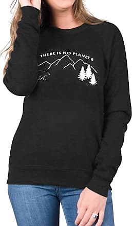 Dresswel Women There is No Planet B Sweatshirt Pullover Round Neck Long Sleeve Tops Jumpers Blouse Black