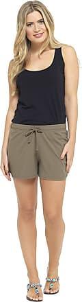 Tom Franks Womens Jersey Cotton Blend Shorts Ladies Beach Hot Pants Size UK 8-22 (16-18, Khaki)