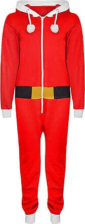 Parsa Fashions New Ladies Elf Santa Christmas All One Womens Novelty Onesie Hooded Tops Jumpsuit Plus Size S-XXXXXL