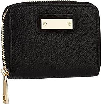 723e3cc312d72 SIX Basic kleines schwarzes Damen Portemonnaie