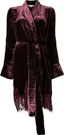 Gold Hawk lace trim kimono jacket - Red