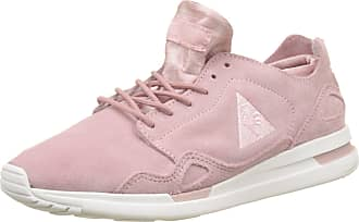 1a6470b5b716 Le Coq Sportif Womens LCS R Flow W Suede Satin Bass Trainers Pink (Pale