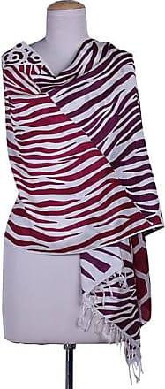 Novica Silk shawl, Safari in Carmine and Plum