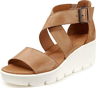Paul Green Calf nappa leather platform sandals Paul Green brown