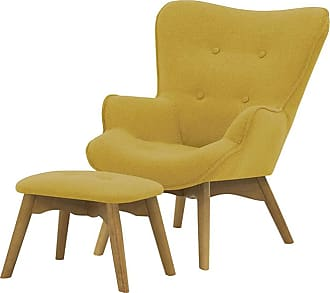 SLF24 Ducon Mini Childrens Wingback Chair + Footstool-Ontario 40-like oak
