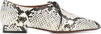 L'autre Chose Sapato com cadarço e efeito pele de cobra - Branco