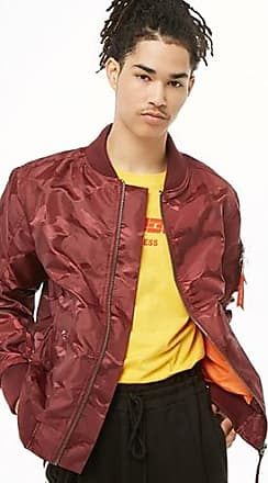 21 Men Victorious Bomber Jacket at Forever 21 Burgundy