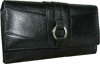 Visconti New Ladies Visconti Large Heritage Black Leather Purse Wallet RFID Anti Fraud CR7