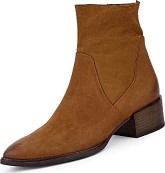 Paul Green Ladies Classic Nubuck Ankle Boots 40mm Heel 9339 025 Brown Size: 7 UK