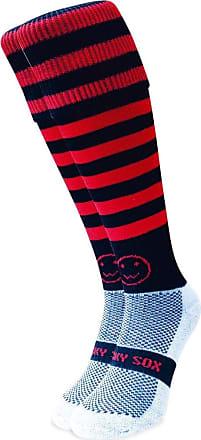 Wackysox Rugby Socks, Hockey Socks - Red and Black Micro Hoop Sports Socks