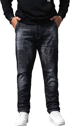 ICEGREY Mens Jeans Fashion Slim Fit Black 38Wx31L