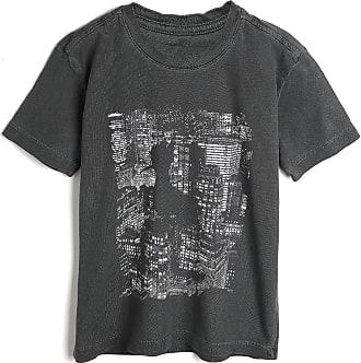 Reserva Mini Camiseta Reserva Mini Infantil Estampada Cinza
