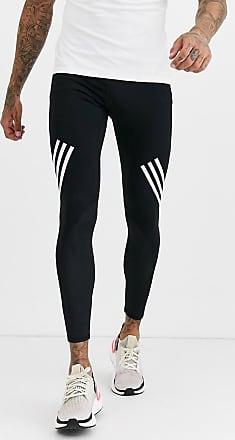 adidas originals adicolor schwarze leggings mit drei streifen
