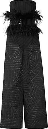 c3f60251e4c3 SemSem Feather And Sequin-embellished Devoré-organza Jumpsuit - Black.  SemSem