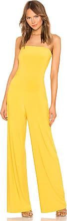 Norma Kamali X REVOLVE Strapless Jumpsuit in Mustard