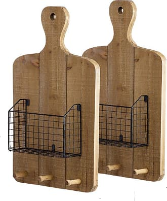 A & B Home Ellery Wall Basket - Set of 2 - 43527-DS