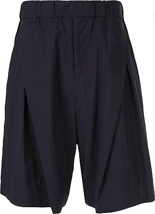 Yoshiokubo tuck shorts - Blue