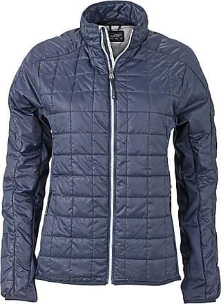 James & Nicholson Womens/Ladies Hybrid Jacket (S) (Navy/Silver)