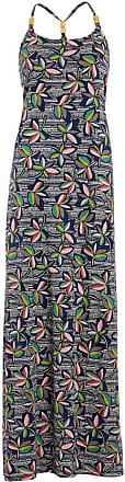 Weird Fish Senna Patterned Halterneck Maxi Dress Light Cream Size 18