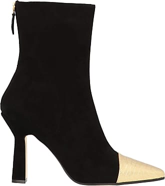 PARIS TEXAS Fashion Womens PX190SUCLBLACKGOLD Black Ankle Boots | Autumn-Winter 19